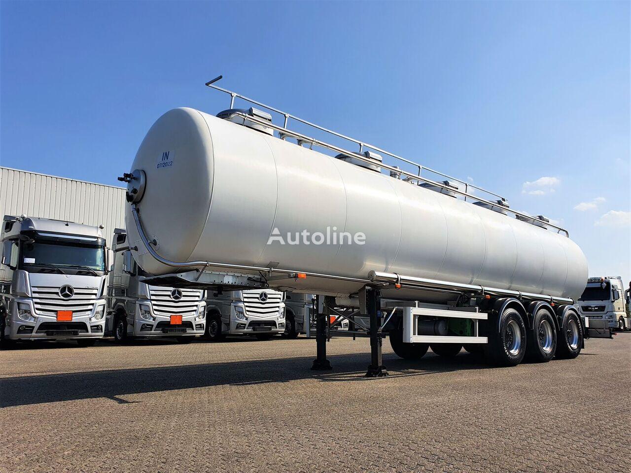 MAISONNEUVE Maisoneuve INOX Food tank 29m3 - 3 comp - Heated - Pressure cisterna za prijevoz hrane