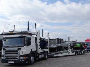 SCANIA P 410 / AUTOTRANSPORTER / ROLFO EGO 4 + ROLFO DYNAMIC 7/ RETARDE autotransporter + prikolica autotransportera