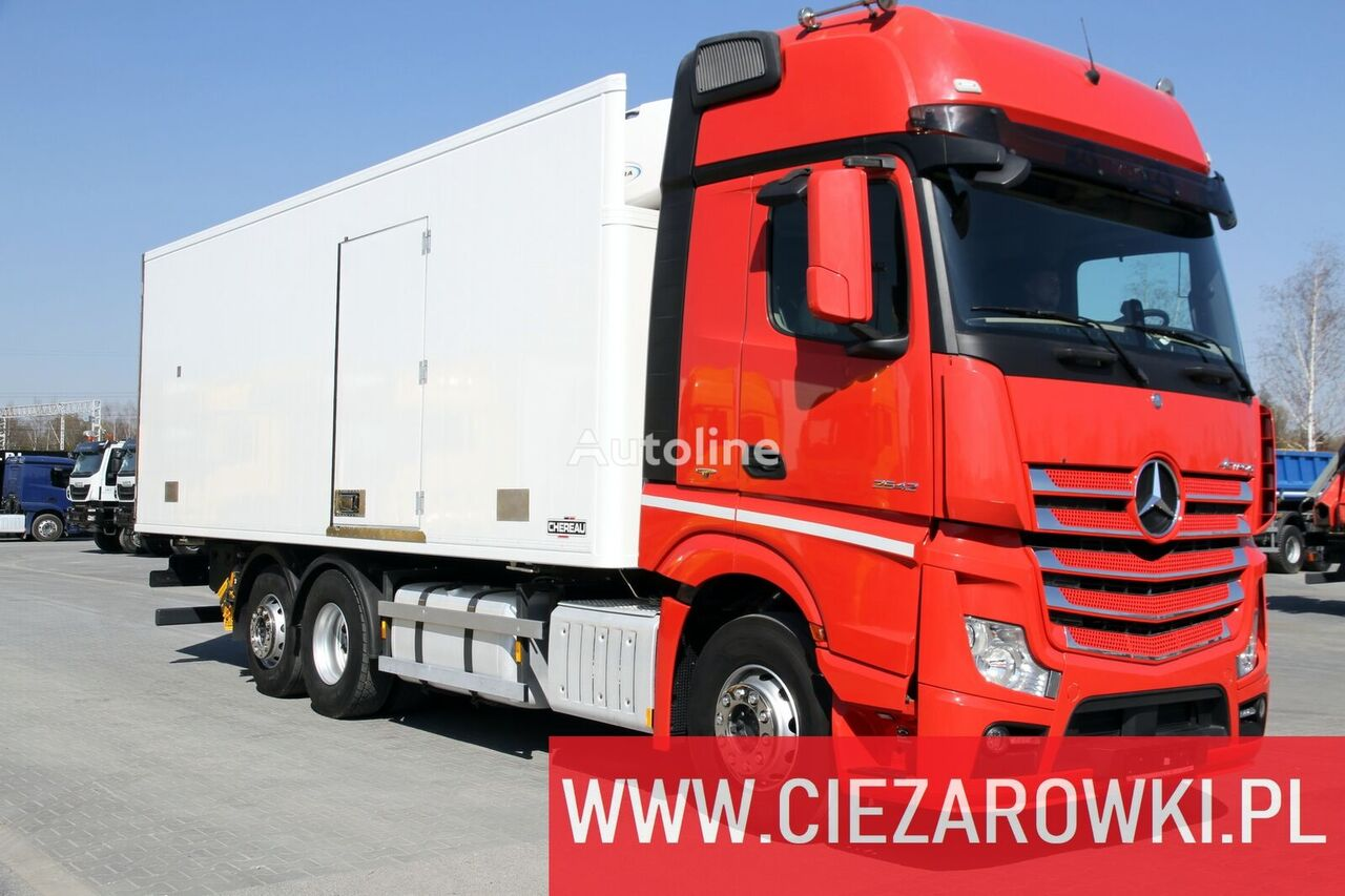 MERCEDES-BENZ Actros 2542 / e6 / 6x2/ hook lift / side door / 18 epal / Carrie kamion hladnjača