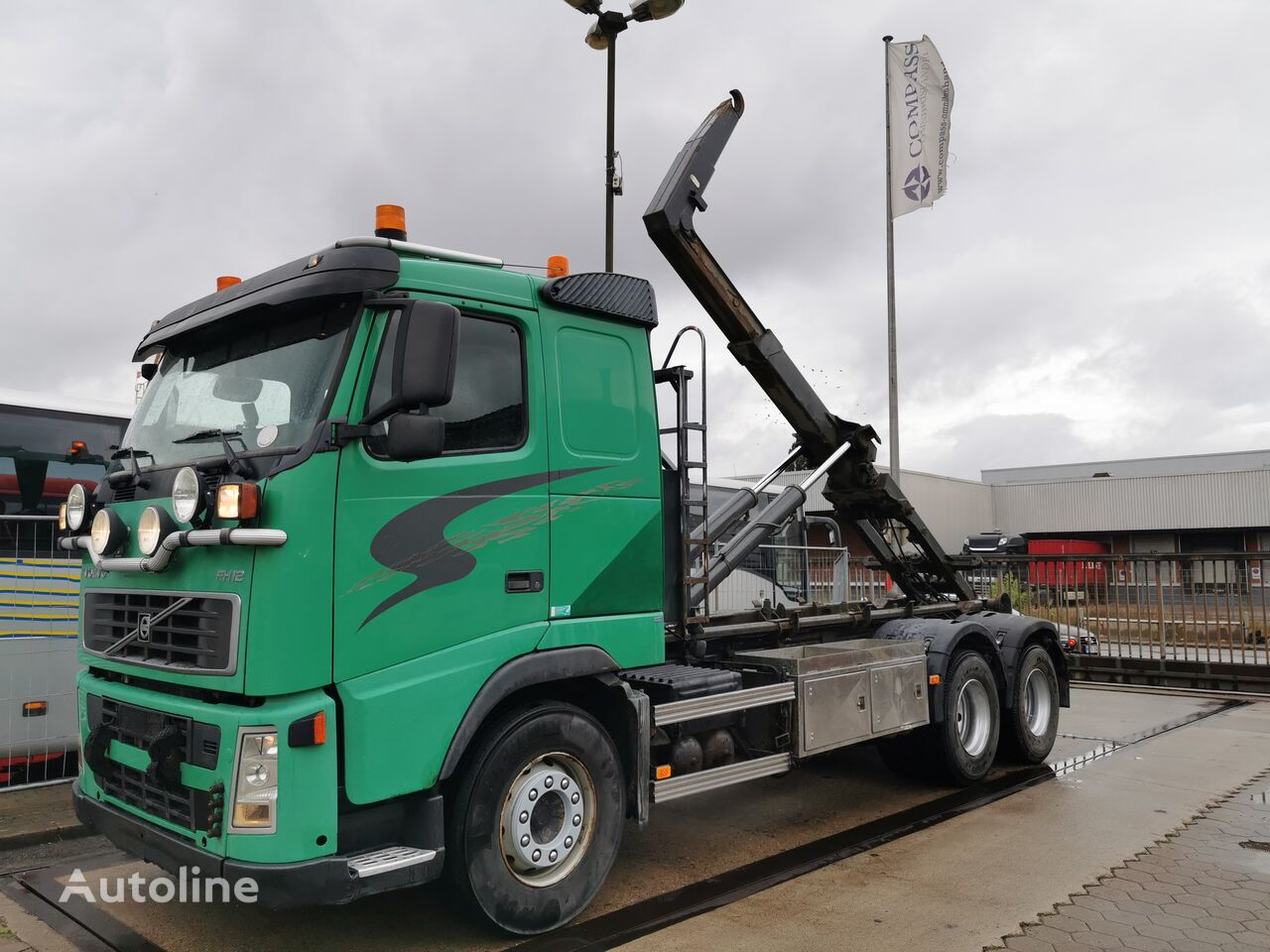 VOLVO FH12 6X4 420HP, Manual Gearbox, HIAB Multilift LHS26153 FHJO-R 2 kamion rol kiper