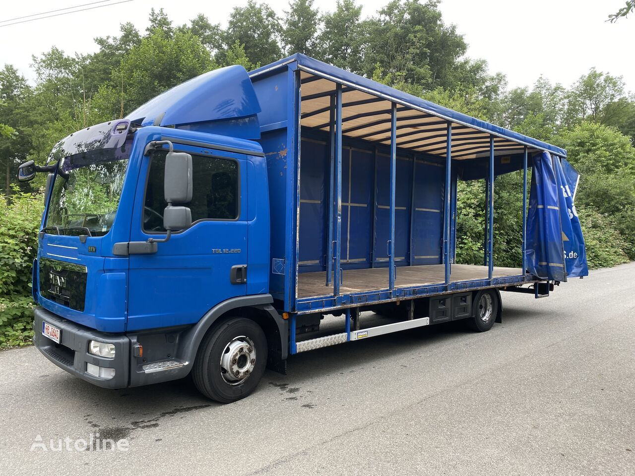 MAN TGL 12.220 BL EEV , 7,20m , 6-Gänge manuall, Klima, TOP kamion s ceradom