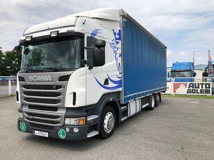 SCANIA R420 LB6x2 flatbed kamion s ceradom