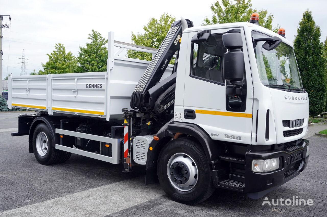 IVECO Eurocargo 160E25 , EEV , 4X2 , tipper + Crane , Remote Control  kamion s ravnom platformom