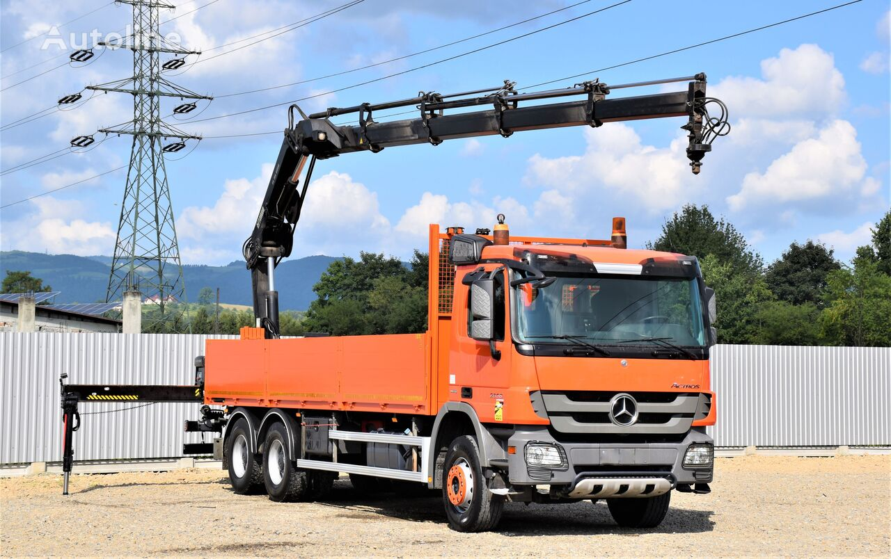 MERCEDES-BENZ ACTROS 2636 * HIAB XS 166-4HIDUO+FUNK / 6x4 kamion s ravnom platformom