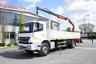MERCEDES-BENZ Axor 1829 , E5 , 150k km , box 7m , FASSI 7,9m , REMOTE , rotato kamion s ravnom platformom