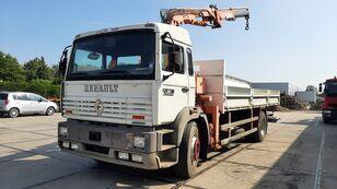 RENAULT G 230 Manager Full Spring Crane Atlas 13m. Long kamion s ravnom platformom