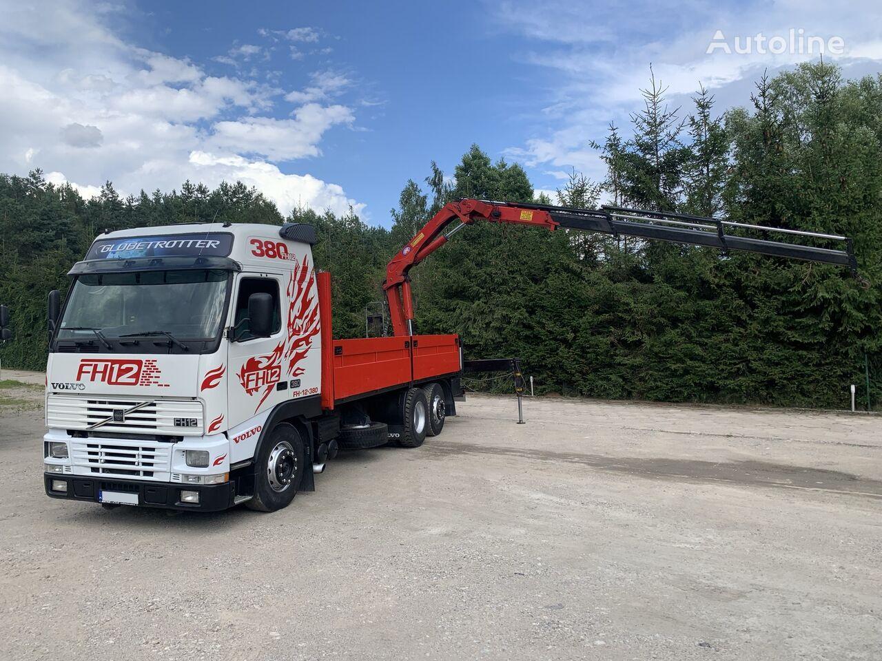 VOLVO FH12 380 KM / 6X2 / SKRZYNIA 6.60 M + ŻURAW HMF / UDŹWIG 4100 KG kamion s ravnom platformom