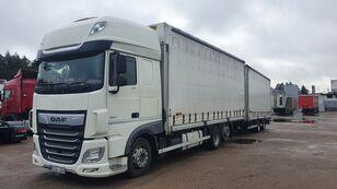 DAF 480 kamion sa kliznom ceradom + prikolica sa kliznim ceradom