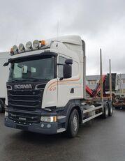 SCANIA R500 V8 6X4, + Epsilon M110L80, 2016 *incoming* kamion za prijevoz drva