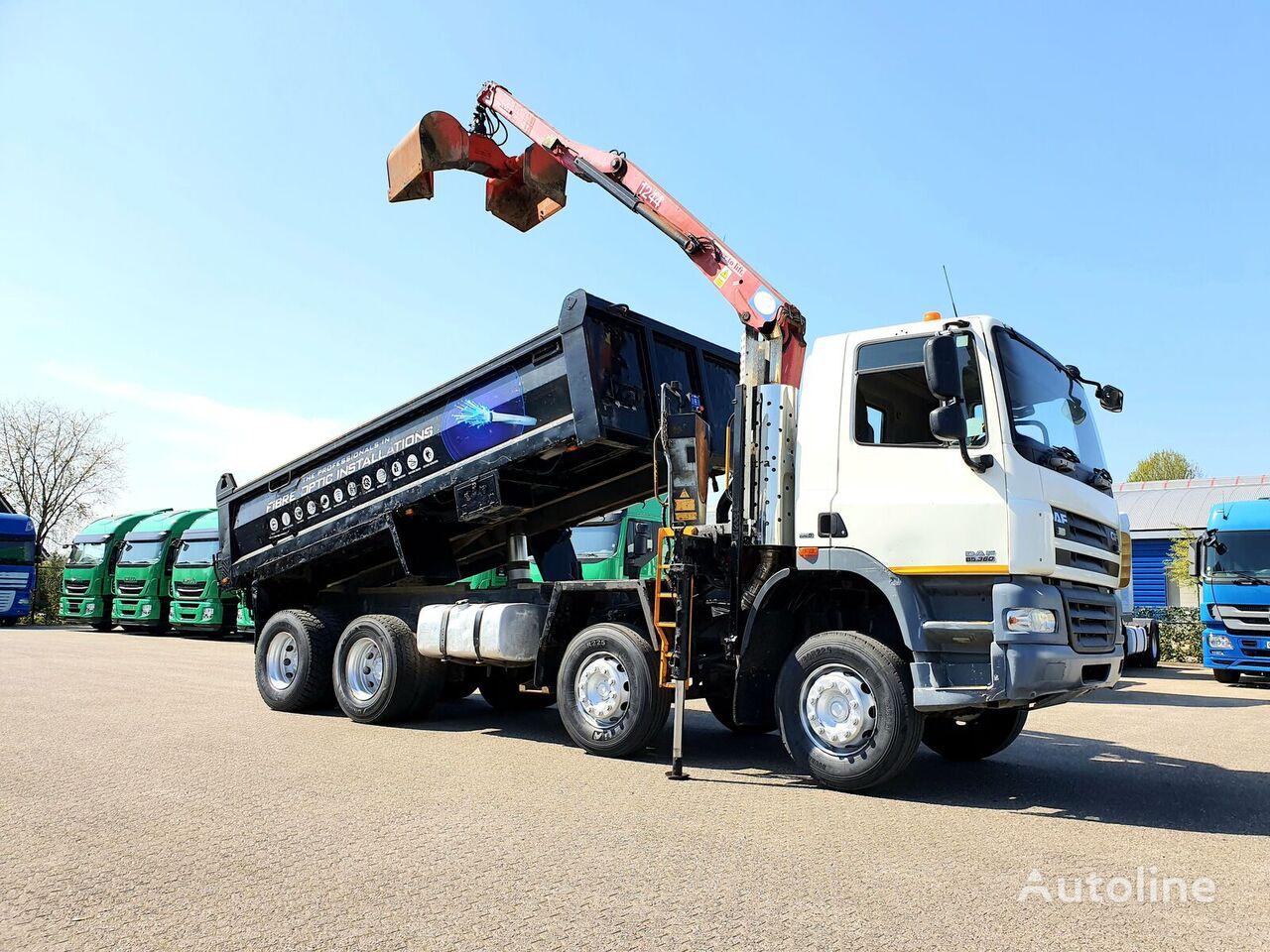 DAF CF85.360 8x4 HMF Crane + Grab RHD Euro 5 kiper