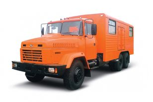novi KRAZ 65053 мастерская  vojni kamion
