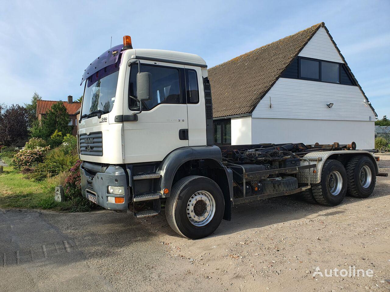 MAN 26.350, Full Spring, New tyres, Belgium vozilo za prijevoz kontejnera