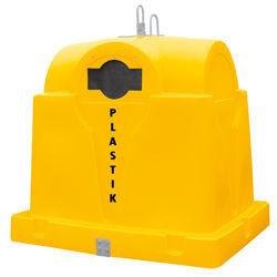novi Plastikoviy konteyner dlya rozdilnogo zboru 1.5 m3 kontejner za smeće