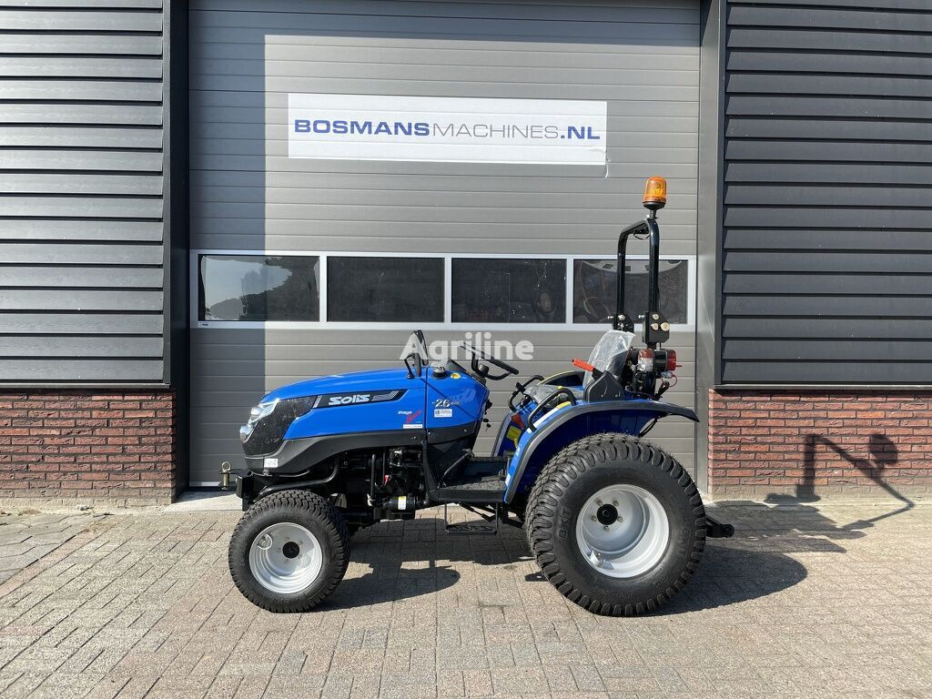 novi SOLIS 26 4WD (24.5 PK mitsubishi) minitractor NIEUW gazonbanden traktor točkaš