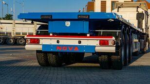 nova NOVA Platform Semi Trailer 40ft with Container Locks from factory poluprikolica platforma