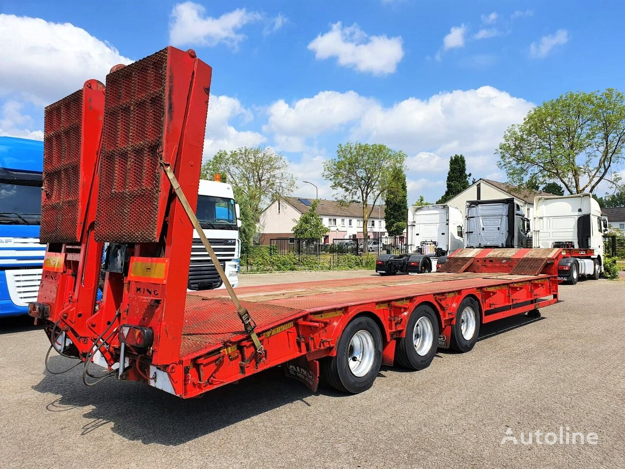 KING Lowloader GTS60/3-19.5 Heavy duty Plant Transport poluprikolica sa niskom platformom