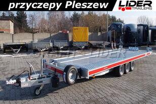 nova TEMARED TM-146 przyczepa 580x207cm, laweta płaska, uchylna, kiprowana prikolica platforma